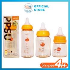 Bình Sữa PPSU Wesser ( 60ml,140ml,250ml/bình cổ hẹp hoặc 180ml,260ml/bình cổ rộng)