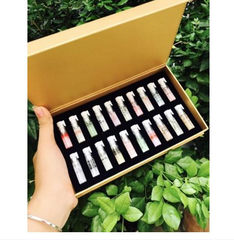 [ MIỄN PHÍ VẬN CHUYỂN ] Bộ 20 chai nước hoa test mini hộp vàng – Sét 20 chai nước hoa mẫu thử cao cấp