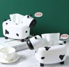 Hộp đựng khăn giấy để bàn 2in1 hình con bò sữa