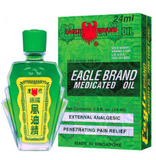 [HCM]COMBO 3 HỘP dầu gió xanh con ó hai nắp Eagle Brand Medicated Oil nhập khẩu chính hãngcần thiết cho mọi nhà
