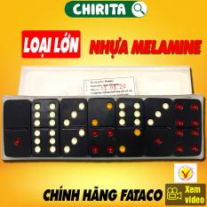 Cờ Domino Fataco Loại Lớn CHÍNH HIỆU – Cờ Domino Nhựa Màu Đen Cao Cấp, Boardgame – CHIRITA