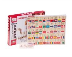Đồ chơi gỗ 100 quân Domino cờ các quốc gia cho bé phát triển trí tuệ, đồ chơi giáo dục, đồ chơi thông minh, giáo cụ montessori, an yên shop