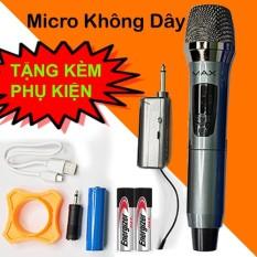 Micro Không Dây Karaoke Max-19, 1 Mic, Mẫu Mới 2021, Màn Hình LED, Chống Hú Tốt, Hát Nhẹ, Bắt Sóng Mạnh, Âm Thanh Trung Thực