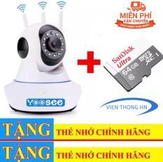 [TẶNG THẺ NHỚ 64GB] Camera YOOSEE WIFI IP XOAY 360 ĐỘ 3 RÂU FULL HD – HÀNG CTY