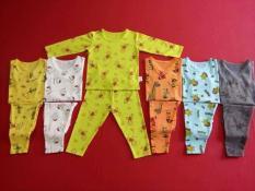 set 5 bộ đồ bộ quần dài,tay dài cho be(1m-1t)