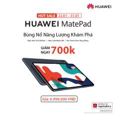 TRẢ GÓP 0% | Máy tính bảng HUAWEI MatePad (4GB/64GB) | Màn hình 2K FullView | Hiệu suất mạnh mẽ | Âm thanh vòm sống động | Sản phẩm sẽ được giao từ ngày 22/01/2021