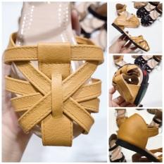 Sandal cho bé gái 00226 sz25-35 Màu vàng