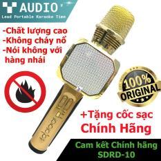 [ Free Ship ] Mic Hat karaok Kèm Loa , Loa Hát Karaok kèm mic , Mic hát karaoke , Micro Kèm Loa Bluetooth Karaoke Sd-10, Âm Thanh Sống Động , Bảo Hành Lên Đến 12 Tháng