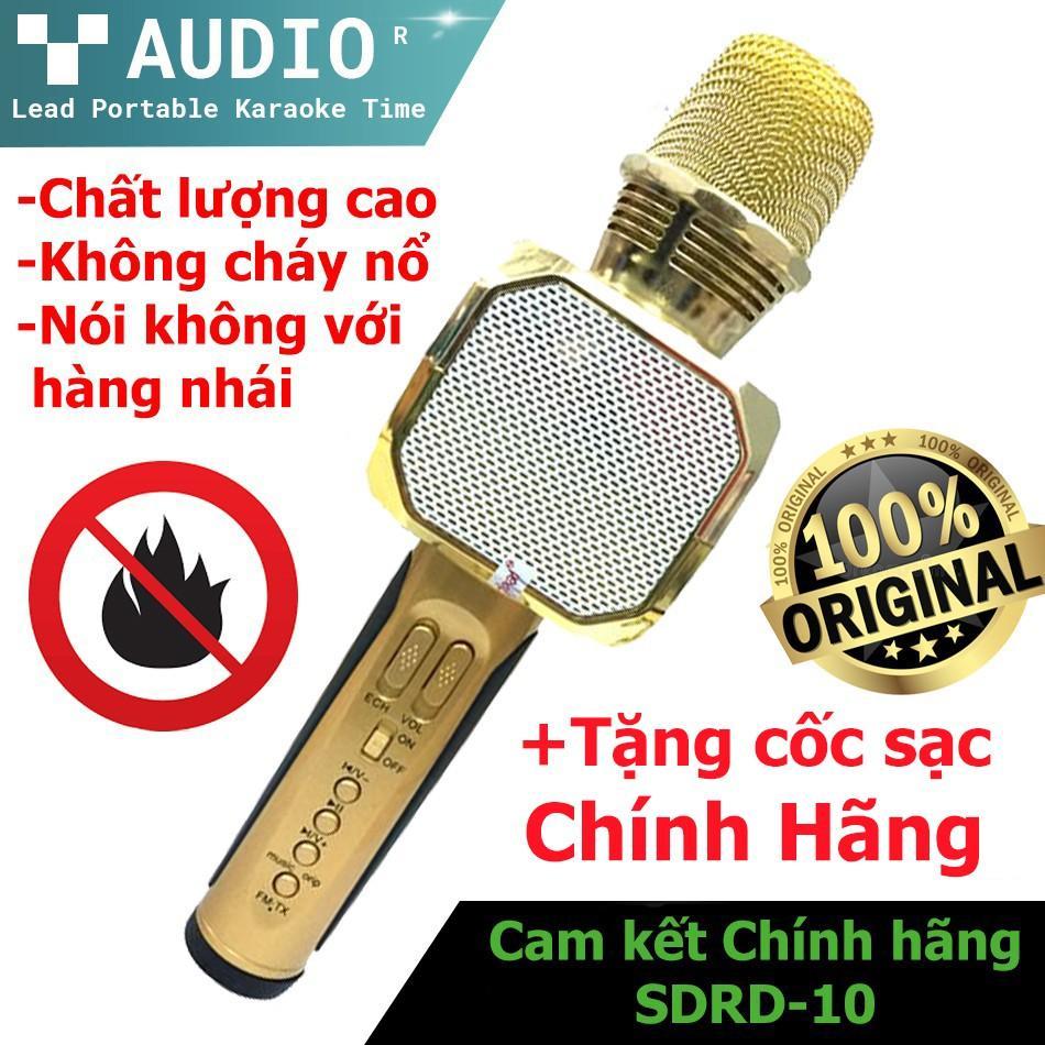 Shop bán Mic Hát Karaoke Bluetooth Không Dây SD-10 - Kèm Loa- Âm vang - Ấm  - Tặng 1 dây sạc nhanh 25K - mic hát karaoke cầm tay mini - micro