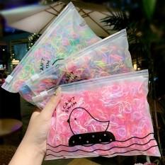 [HCM]Túi 1500 thun cột tóc nhiều màu loại siêu nhỏ cho bé gái – Selenshop