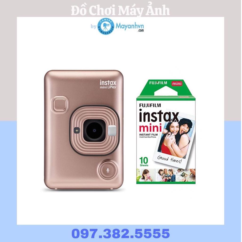 Máy Ảnh Lấy Liền Instax Mini LiPlay Blush Gold (Chính Hãng) + 1pack film/ 10 tấm ảnh