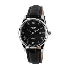 Đồng hồ nữ dây da Skmei 9058 viền trắng