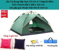 Lều cắm trại, lều du lịch dã ngoại tự bung 2-5 người, dễ dàng gập mở, đóng gói nhỏ gọn , thuận tiện khi di chuyển Tăng 2 Gối Hơi