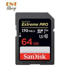 Thẻ nhớ SDXC SanDisk Extreme PRO 64GB UHS-I U3 4K V30 170MB/s – Model 2019 (SDSDXXY-064G-ANCIN)