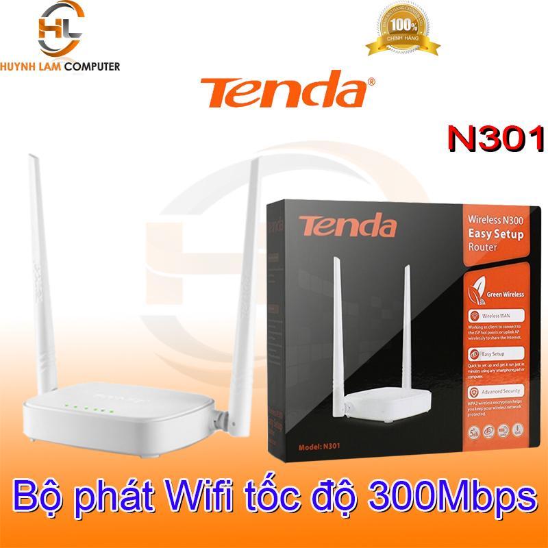 Bộ phát WiFi Tenda N301 tốc độ cao chuẩn N 300Mpbs - Microsun Phân Phối