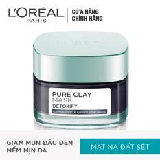 Mặt nạ đất sét thanh lọc giảm mụn đầu đen L'Oreal Paris Pure Clay mask Detoxify