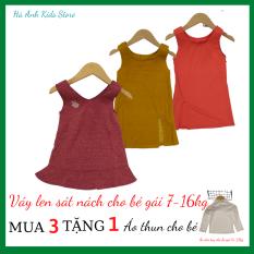 Váy bé gái – Váy cotton sát nách cho bé gái 6-16kg