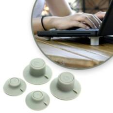 Bộ chân đế tản nhiệt laptop máy tính xách tay thông minh | Miếng silicon kê chân laptop