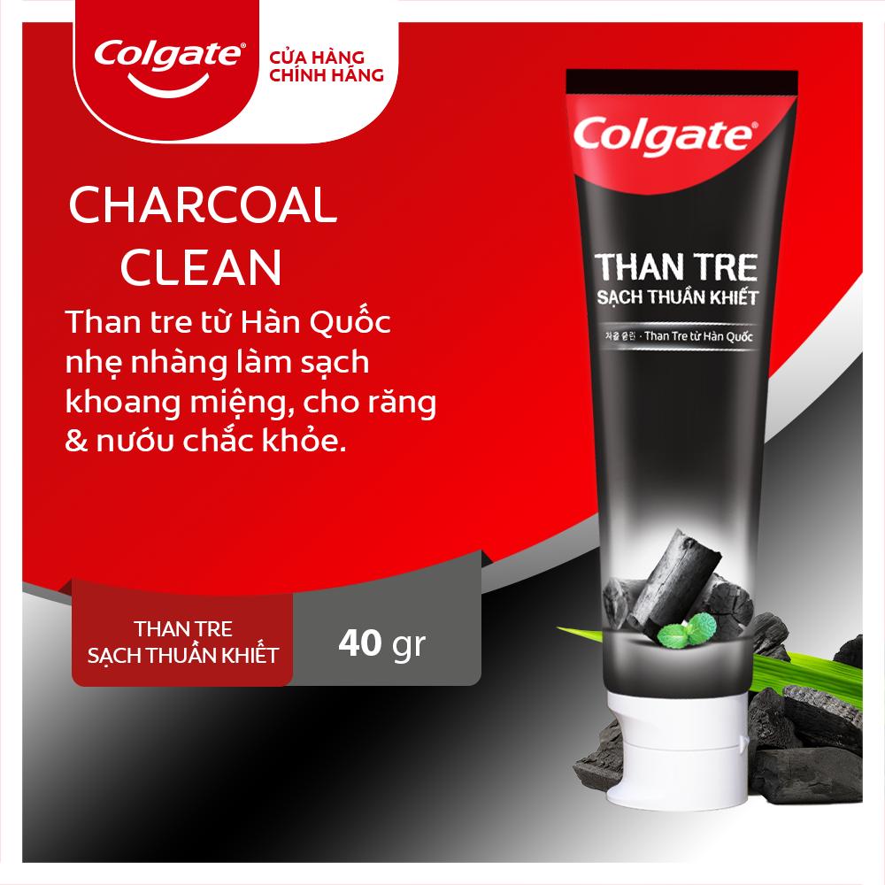 Kem đánh răng Colgate thiên nhiên khử mùi diệt khuẩn từ Than tre Hàn Quốc & bạc hà 40g