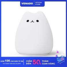 Đèn ngủ Silicone để bàn cảm biến đổi màu hình Mèo cute Mèo buồn Mèo nghiêm túc cực Hot – Venado