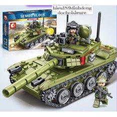 [Lấy mã giảm thêm 30%]Lắp ráp xếp hình SEmbo block 105514 : Xe tank quân đội t85 324+ mảnh