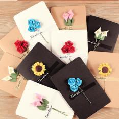 Thiệp chúc mừng hoa giấy thủ công, hàng sẵn, 16×10.5cm