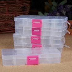 Combo 2 Hộp đựng đồ 10 ngăn trong suốt tiện dụng