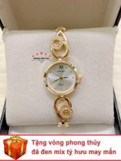 Đồng hồ nữ HALEI dây lắc thời thượng ( Dây vàng mặt trắng ) – TẶNG 1 vòng tỳ hưu phong thuỷ