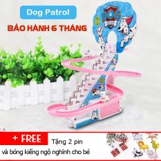 Bộ Đồ Chơi Cầu Trượt Leo Thang Có Nhạc Dùng Pin-Mô hình leo cầu thang đồ chơi trẻ em có nhạc đèn