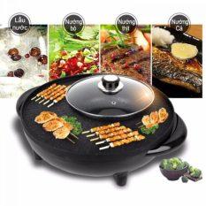 Nồi lẩu điện đa năng-Nồi lẩu kiêm bếp nướng điện 2 in 1 đa năng Cao cấp-Nồi lẩu nướng điện đa năng 2 Trong 1 Kiểu Hàn Quốc-chảo lẩu nướng