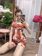 bộ đùi nữ họa tiết đơn giản-vải lụa mềm mịn (hàng y hình) size dưới 55kg