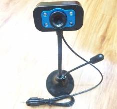 Webcam Cao Có Micro kèm đèn led – Xanh Đen
