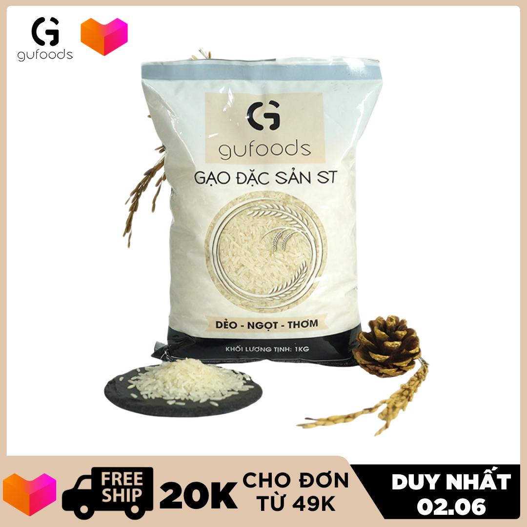 [TOP GẠO NGON NHẤT THẾ GIỚI] Gạo ngon đặc sản ST GUfoods 1kg dẻo ngọt thơm – đồ ăn – thực phẩm