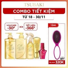 [COMBO TIẾT KIỆM] Bộ sản phẩm Phục hồi tóc ngăn rụng tóc chuyên sâu Tsubaki dưỡng tóc bóng mượt hoàn hảo