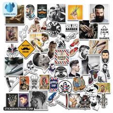 Sticker Barber Cắt Tóc Bộ Hình Dán Trang Trí Gương Shop Decal Dán VaLi Nón Bảo Hiểm Chống Nước Chất Lượng Cao Dùng Cho Xe Đạp Máy Điện Motor Laptop Máy Tính Xách Tay Học Sinh Tủ Quần Áo Nắp Lưng Điện Thoại