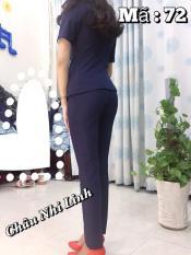 Áo vest form dài & quần lưng cao giúp cho phái nữ trẻ trung và năng động hơn_màu xanh_072