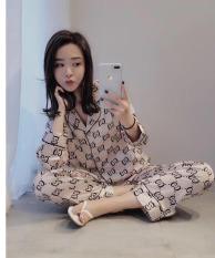 Đồ Bộ Pijama Tay Dài Vải Kate Thái Loại 1 Siêu Min Đẹp Freesize 40kg Đến 66kg