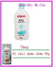 Sữa Tắm gội pigeon 700ml Tặng chai phấn thơm 50g cho bé