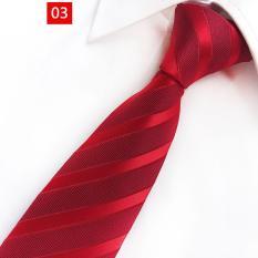 16 kiểu áo cưới nam màu đỏ chuyên dụng sọc cà vạt 8CM rộng Polyester lụa Jacquard dệt quý ông phù hợp với phụ kiện Cô dâu chú rể
