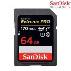 [Nhập EXCLUSIVEW501 giảm 10% tối đa 300k] Thẻ Nhớ SDXC SanDisk Extreme Pro U3 V30 1133x 64GB 170MB/s SDSDXXY-064G-GN4IN