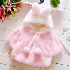 Áo khoác lông tai thỏ cho bé gái 4-16kg