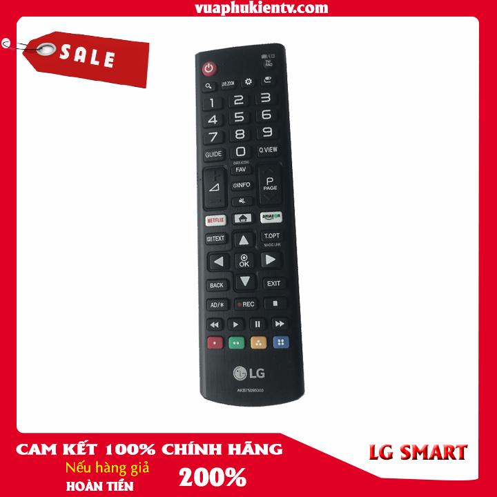Điều khiển remote tivi LG smart CHÍNH HÃNG màu đen phím tắt Netfix và amazon dùng được cho tất cả tivi LG