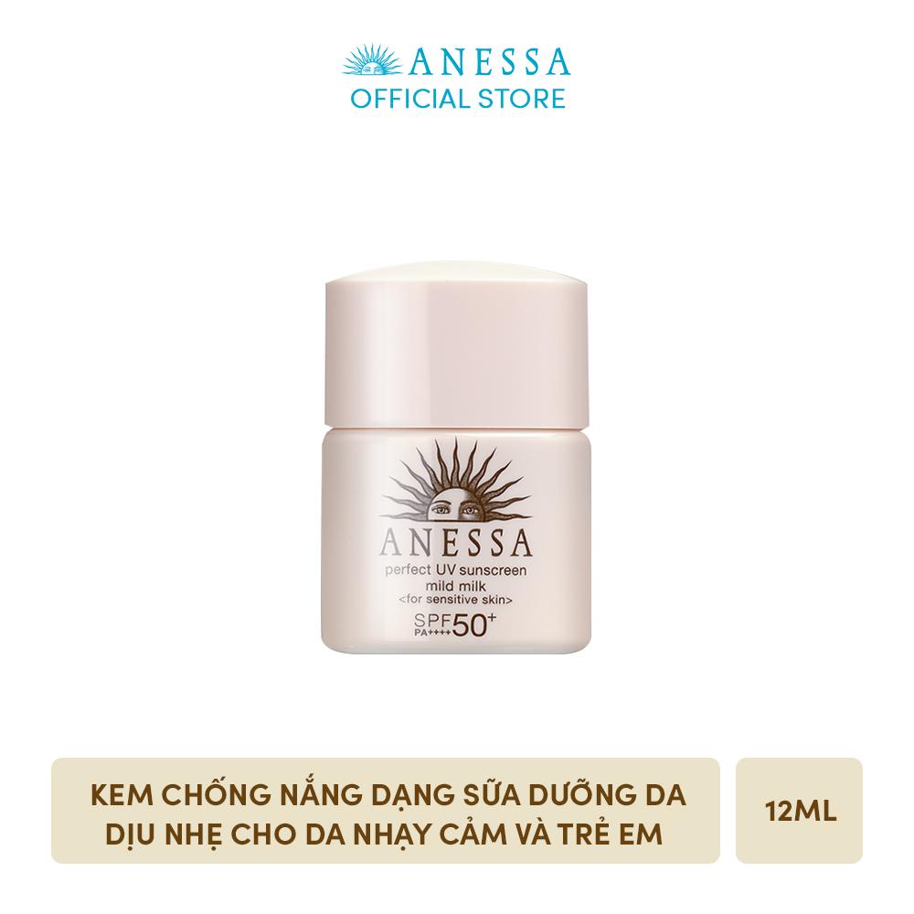 [GIFT] Kem chống nắng dạng sữa dưỡng da dịu nhẹ cho da nhạy cảm và trẻ em ANESSA Perfect UV Sunscreen Mild Milk SPF 50+ PA++++ 12ml