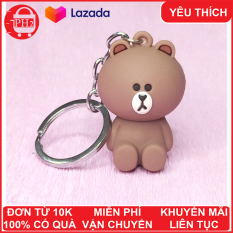 Móc khóa gấu Brown ✓Mẫu 2 ✓ móc khóa cute ✓ móc khóa xe dễ thương ✓ móc khóa anime chất lượng cao ✓ móc chìa khóa xe, túi sách, balo đều hợp✓móc khóa cặp đi học ✓ Phát Huy Hoàng