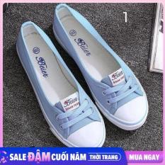 Giày Lười Nữ, Giay Luoi Vai Nu, giày Slip-on Vải Mềm Mại