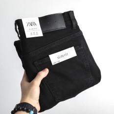 (Có video) Quần jean nam màu đen trơn Za.Ra co giãn bốn chiều chống nhăn xuất khẩu