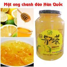 mật ong chanh hàn quốc hộp 1kg chai thủy tinh