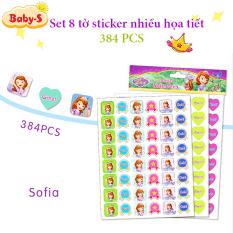 Set 384 sticker khen thưởng tiếng Anh cho bé set 8 tờ với nhiều họa tiết hoạt hình sinh động kèm slogan khích lệ khiến những giờ học thêm thú vị Baby-S– SST011