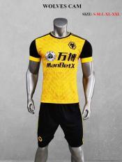 Bộ quần áo đá bóng đẹp CLB WOLVES màu Cam đồ đá banh mới 2020-2021