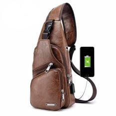 Túi đeo chéo nam, túi đeo chéo có cổng sạc USB phong cách Hàn Quốc